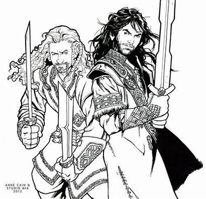 Coloring Hobbit Pages Legolas Drawing Printable Lord