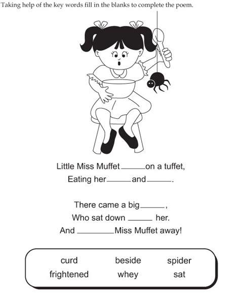 free nursery rhyme worksheets for kindergarten