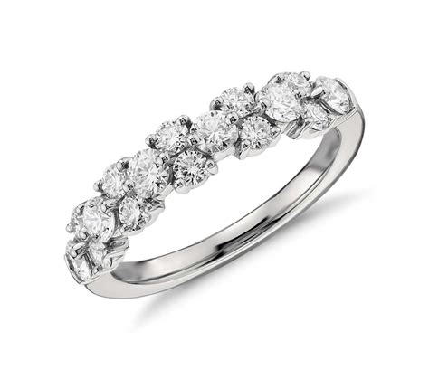Garland Diamond Ring In Platinum (1 Ct Tw)  Blue Nile. Popular Gold Bangle Bracelet. Shiny Diamond. Unique Gold Jewellery. Pizza Necklace. Jewelers. Platinum Ring Bands. Diamond Eternity Band. Ecg Necklace