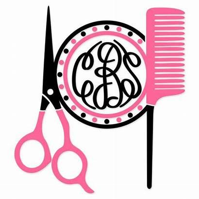 Cuttable Monogram Hairdresser Salon Cameo Svg Silhouette