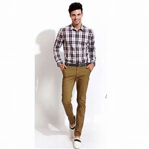 Mens fashion khaki pants - Pi Pants