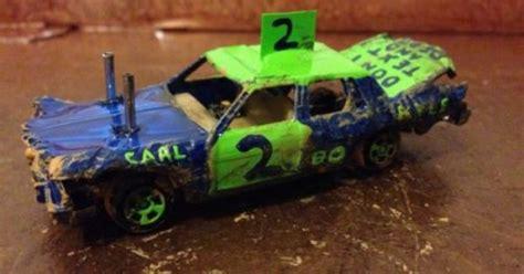 Demolition Derby Cars Toys by Custom Built 1 64 Demolition Derby Demo Car 80s Box Gm