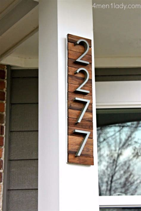 creative diy house numbers