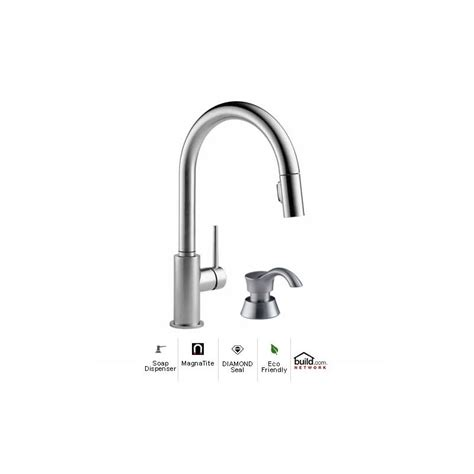 delta trinsic faucet with soap dispenser faucet 9159 ar dst sd in arctic stainless by delta