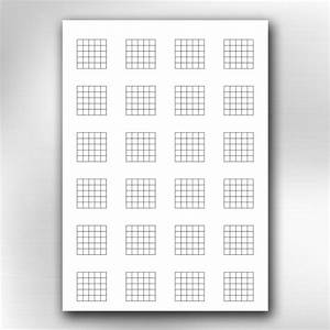 A4 Printable Guitar Blank Chord Chart Diagrams