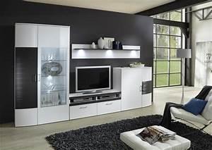 Moderne Wohnwand Hochglanz : wohnwand hochglanz wei graphit bestseller shop f r m bel und einrichtungen ~ Sanjose-hotels-ca.com Haus und Dekorationen
