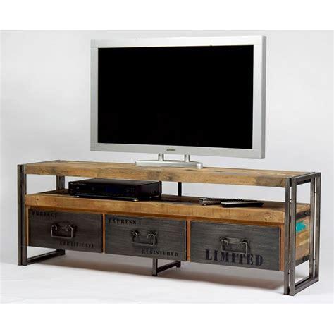 Meuble Alinea Meuble Tele Meuble Tv Design Bois Meuble Tv Industriel Fer Et Bois Factory Samudra