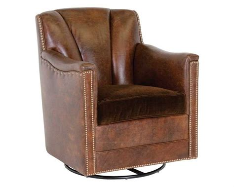classic leather lombard swivel glider chair 117766 sg