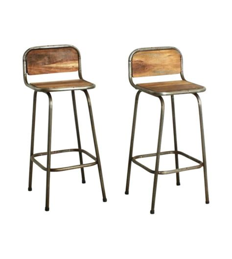 chaise de bar vintage tabouret bar metal tabouret de bar bois metal vintage
