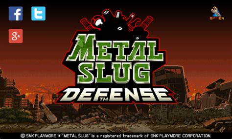 metal slug defense  eu sou android