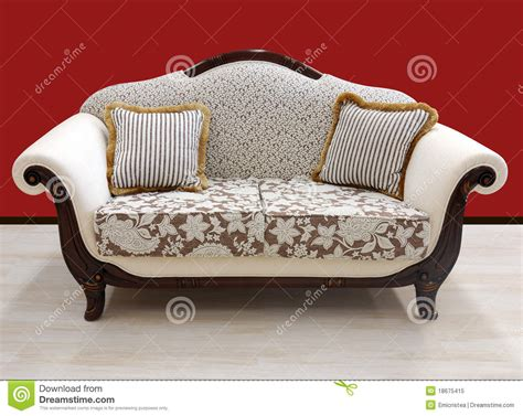 sofa vintage look vintage design style sofa stock image image of interior 18675415