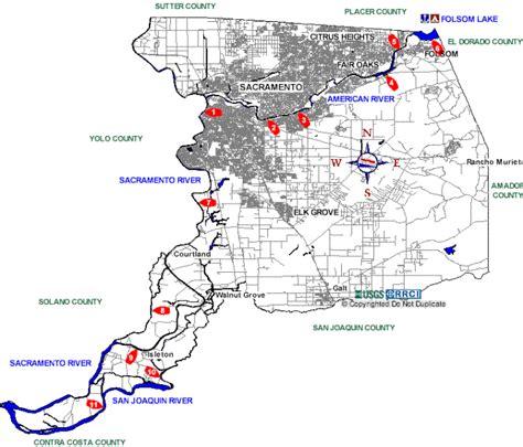 Boat Launch Sacramento by Sacramento County Boat Rs Map
