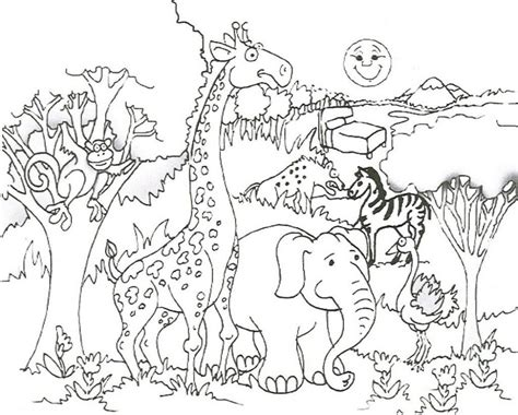 Free Coloring Pages Of Animals And Their