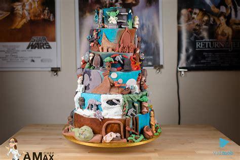 Chef Amax creates huge Star Wars cake