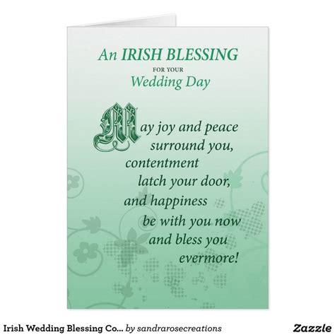 irish wedding blessing congratulations card wedding
