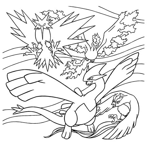 Pokemon Articuno Free Colouring Pages