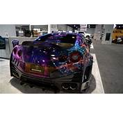 Crazy Widebody Wrapped GTR At SEMA  YouTube