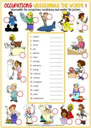 learning occupations jobs professions  printable