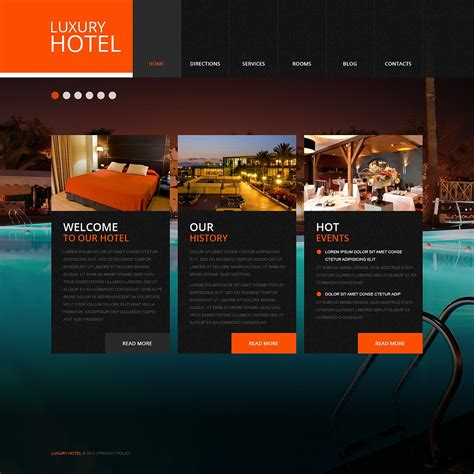 Luxury Hotels Website Template  Web Design Templates