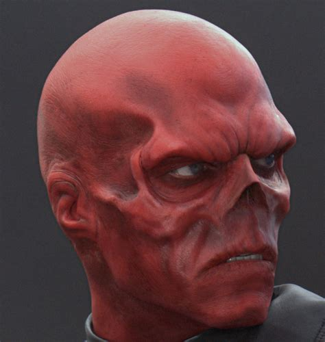 high res   red skull  captain america