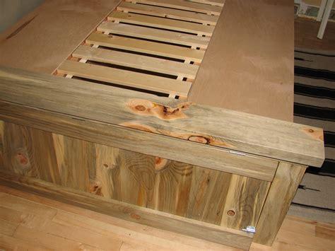 ana white blue stain pine farmhouse storage bed diy