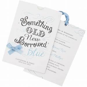 Something old something new something borrowed something for Borrowed blue wedding invitations