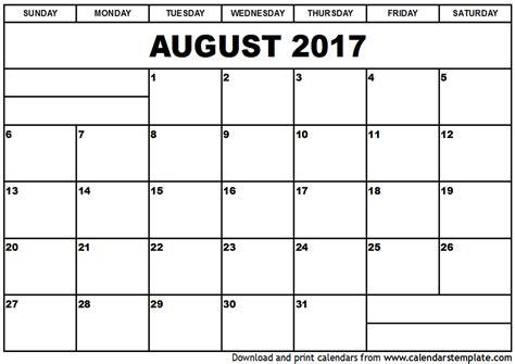 calendar template for june july august 2017 august 2017 calendar template