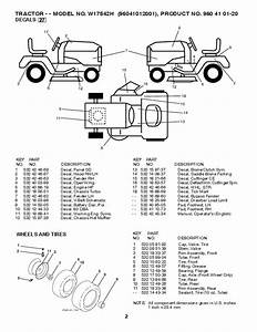 2010 Weed Eater 96041012001 Lawn Tractor Parts Manual