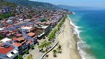 Malecon Puerto Vallarta Mexico video from air - YouTube