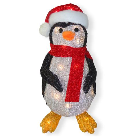national tree company  fabric tinsel penguin