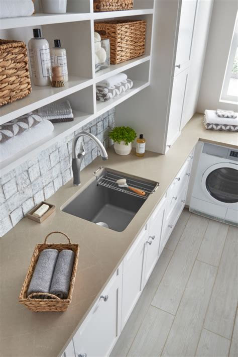 blanco liven laundry sink the trend that is here to stay in kitchen architecture and