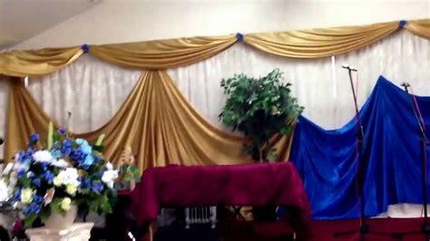 church decor full wall draping youtube