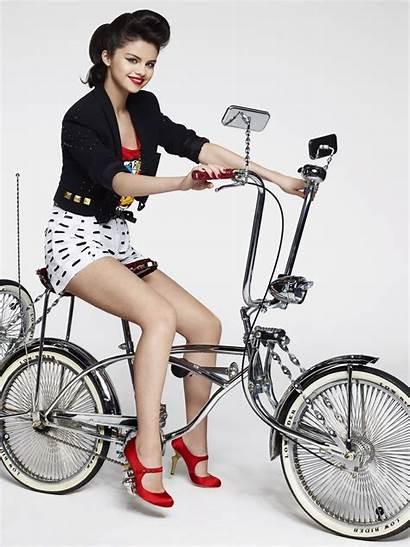 Selena Gomez Bicycle Photoshoot Cosmopolitan Magazine Lowrider
