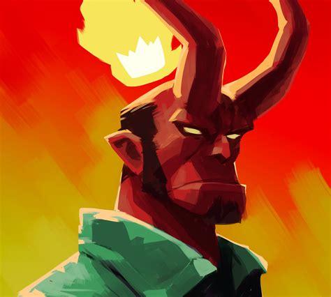 Artistic Hellboy, Full Hd Wallpaper