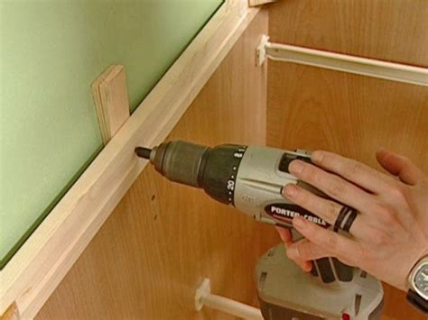 diy install kitchen cabinets how to install a new cabinet how tos diy 6813