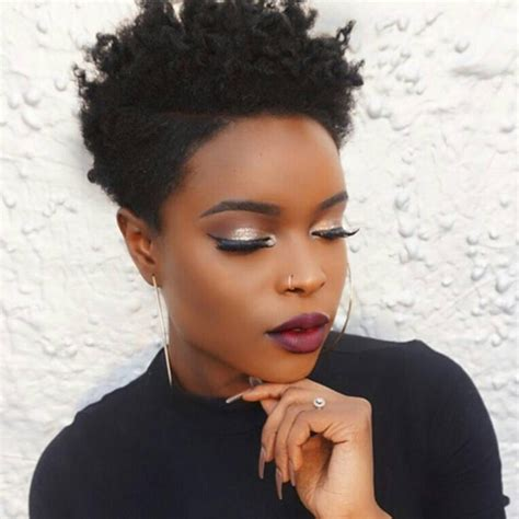 short natural african american hairstyles african