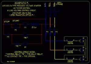 Basic Start  Stop Ac Motor Control Schematics