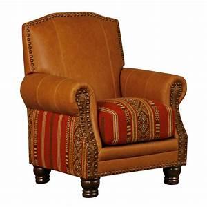 Western Furniture: Fireside Lucero Stripe Chair Lone Star