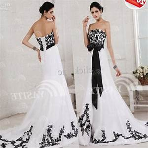 plus size black and white wedding dresses pluslookeu With black and white plus size wedding dresses