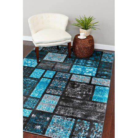 5x7 rug walmart rugs 1007 turquoise abstract modern area rug 5x7