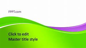 Soft Slides Free Background Green Powerpoint Template Free