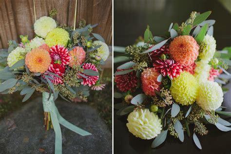 diy dahlia bouquet project wedding