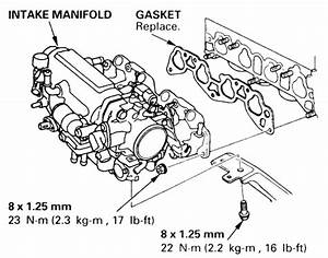 head gasket repair head gasket repair 95 honda civic With d16z6 intake manifold diagram