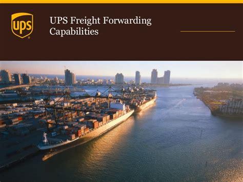ups air  ocean freight capabilities customer deck
