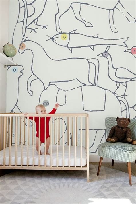 Animal Nursery Wallpaper - nursery wallpaper color ideas for your interior