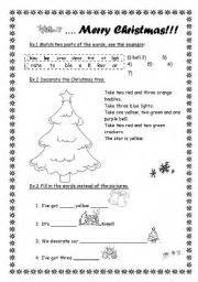 merry christmas worksheet by sasha ru