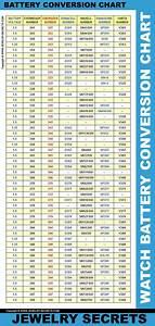 Watch Battery Cell Conversion Chart Watch Battery