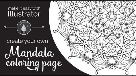 easy  illustrator create   mandala