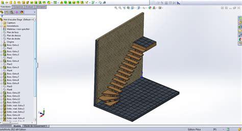 fabrication et mod 233 lisation 3d de plan d escaliers en tous
