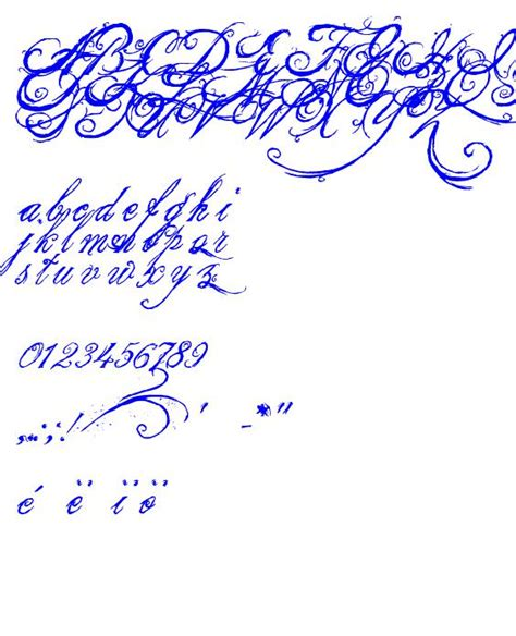 the king font d ecriture ttfcalligraphie